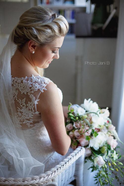 Bride over shoulder