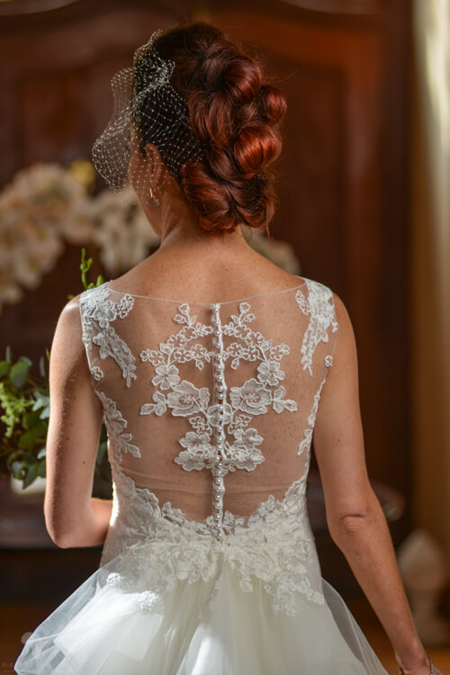 Bridal hair from back