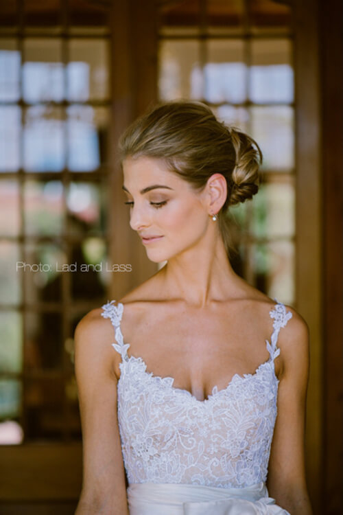 Bridal makeup close